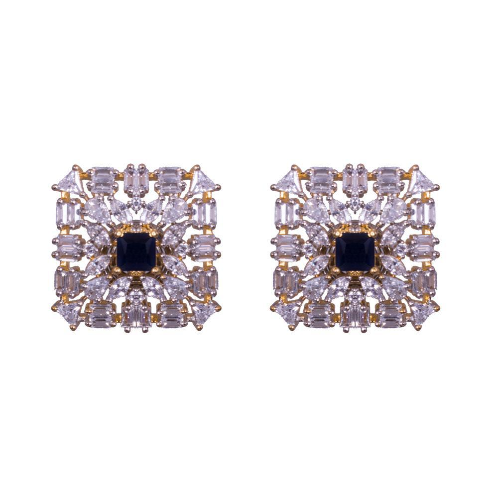 square structure earrings