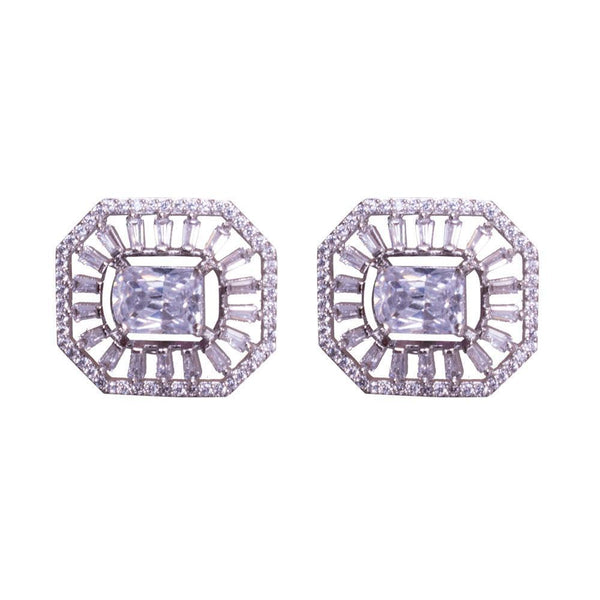 Chunky Amercian Diamond Clad Earrings