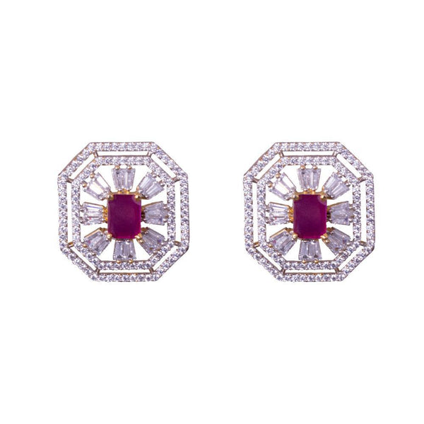 Designer Chunky American Diamond Earrings