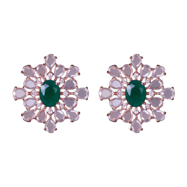 Embellished Emerald Precious Earrings
