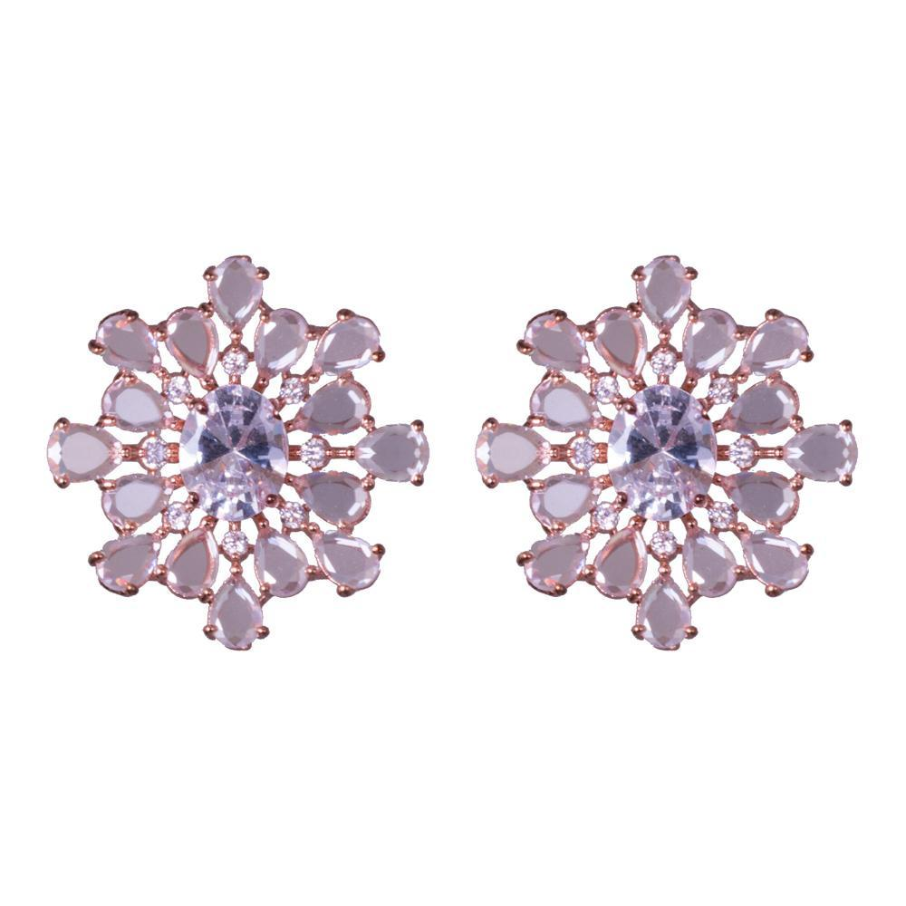 Splash American diamond earrings