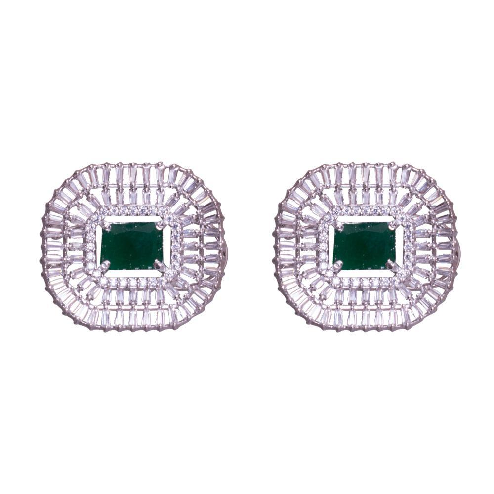American diamond chunky earrings