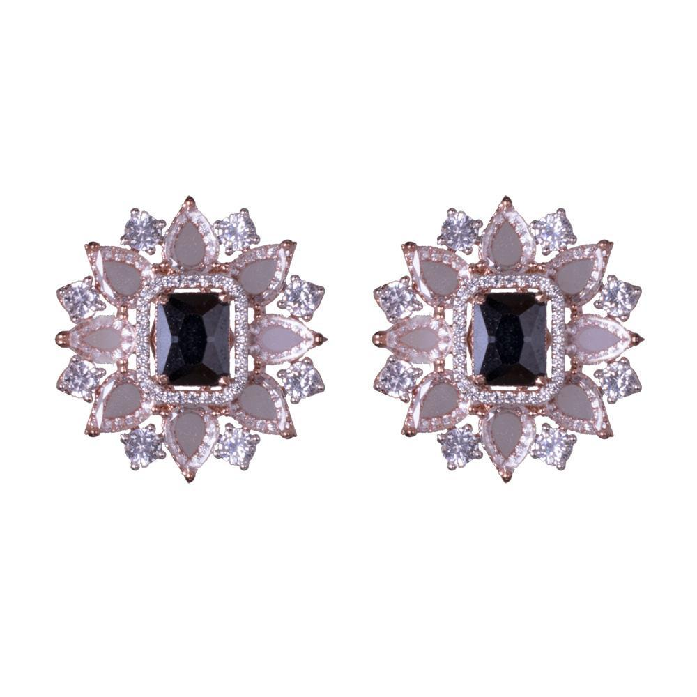 American diamond kemp stone earrings