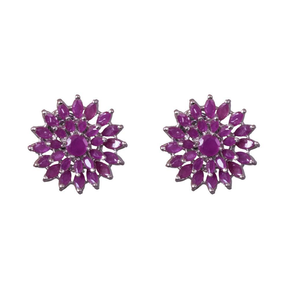 Ruby symmetrical earrings