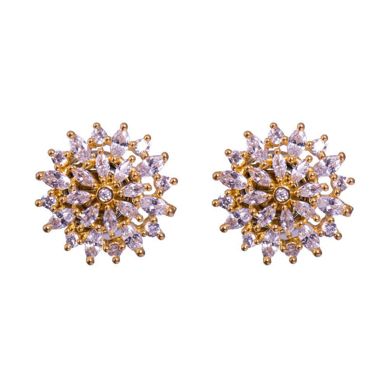Gorgeous Zircon party earrings for Rs.Rs. 650.00 | Jewellery by Prashanti Sarees