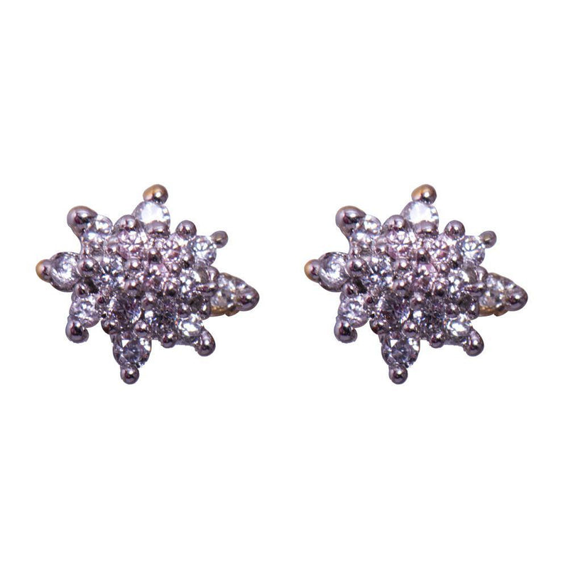 Star silver earrings