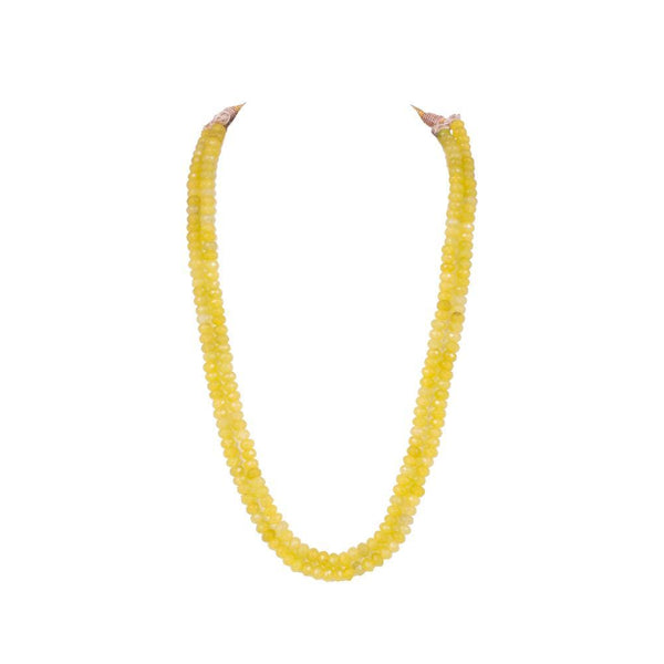Layered yellow beaded Set for Rs.Rs. 1000.00 | Jewellery by Prashanti Sarees