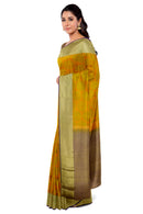 Kanjivaram Silk Saree Honey color with Buttas and Zari border