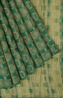 Semi raw silk saree bottle green with banaras style all over zari pattern for Rs.Rs. 1170.00 | Semi Raw Silk Sarees by Prashanti Sarees