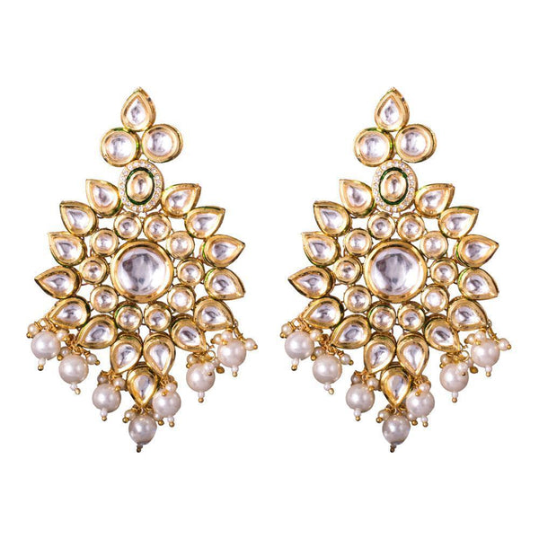 Kundan Stone Elegant Earrings