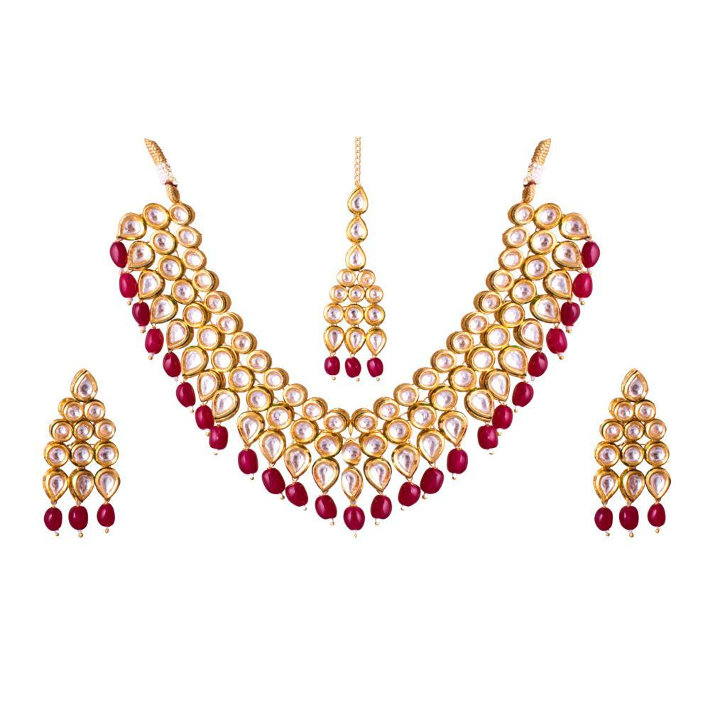 Kundan Stone Choker Necklace Set