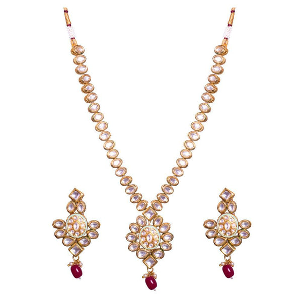 Kundan Stone Red bead Necklace