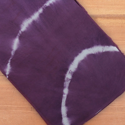 Semi Silk Batik Saree with Purple and Blue