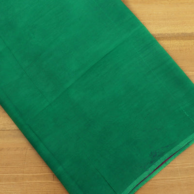Semi Silk Batik Saree Green and Pink