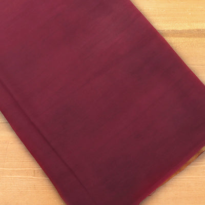 Semi Silk Batik Saree Maroon and Mustard