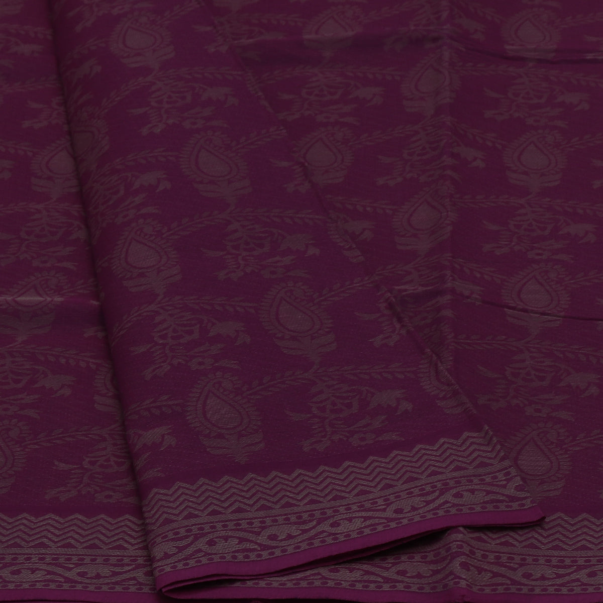 Coimbatore Cotton Saree Violet with Floral border