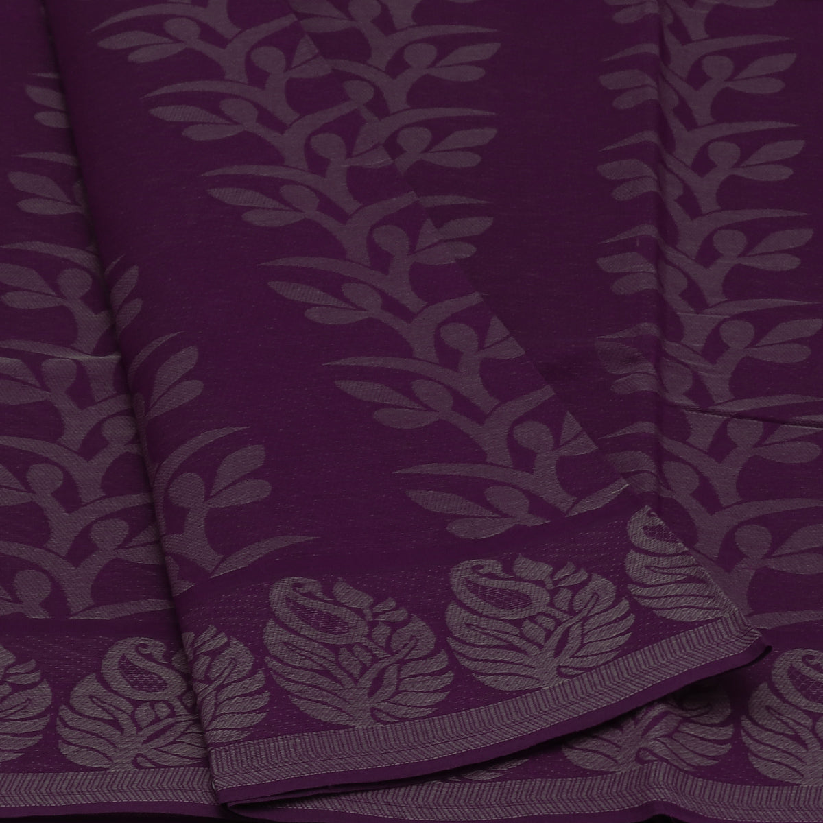 Coimbatore Cotton Saree Violet with Mango border