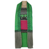 Dress Material - Pink and Green with embroidery and Chiffon dupatta