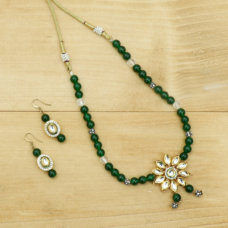 Green Kundan Necklace