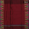 Kota Cotton Saree Maroon with Temple Zari Border