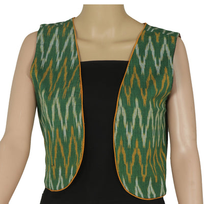 Double Sided Jacket Green and Black with traditional design