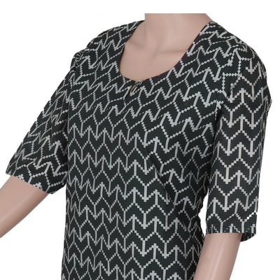 Rayon Kurta Black and Grey with ikkat design