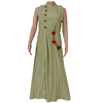 Soft Cotton Kurta Grey with flower design
