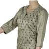 Raw Silk Kurta Grey with Mango embroidery