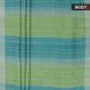 Pure Linen Saree Pista Green with Simple border