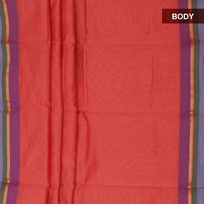 Mercerised Cotton Saree Onion Pink with thread border
