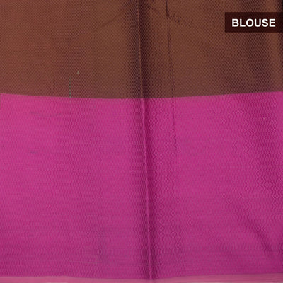 Banarasi Organza Saree Light Purple and Pink with Temple border