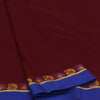 kora silk saree maroon and violet with mango border