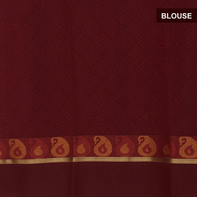kora silk saree off white and maroon with mango border