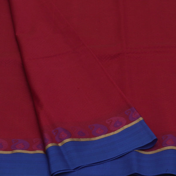 kora silk saree pink and violet with mango border