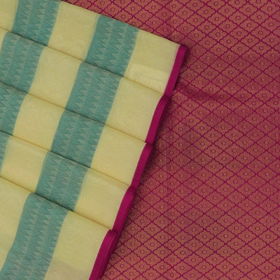 Kora silk saree white with Green and Pink with Simple Border for Rs.Rs. 1990.00 | Kora Sarees by Prashanti Sarees