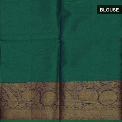 Banarasi Kora Muslin Saree Green with Instrumental border
