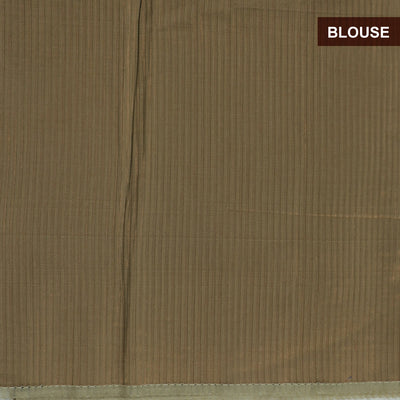 Banarasi Organza Saree Teal Blue with Instrumental design and Golden blouse