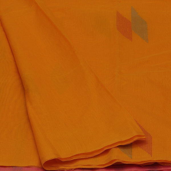 Kora Silk Saree Yellow with Simple Border