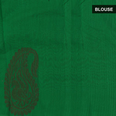 Mercerised Cotton Saree Red and Green with Simple Border for Rs.Rs. 1925.00 | Cotton Sarees by Prashanti Sarees