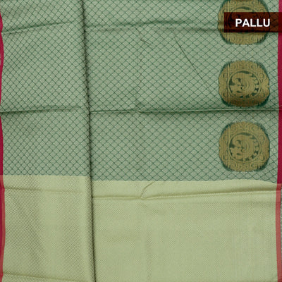 Banarasi Kora Muslin Saree Half White Green with Annam Zari Border for Rs.Rs. 1250.00 | Banarasi Sarees by Prashanti Sarees