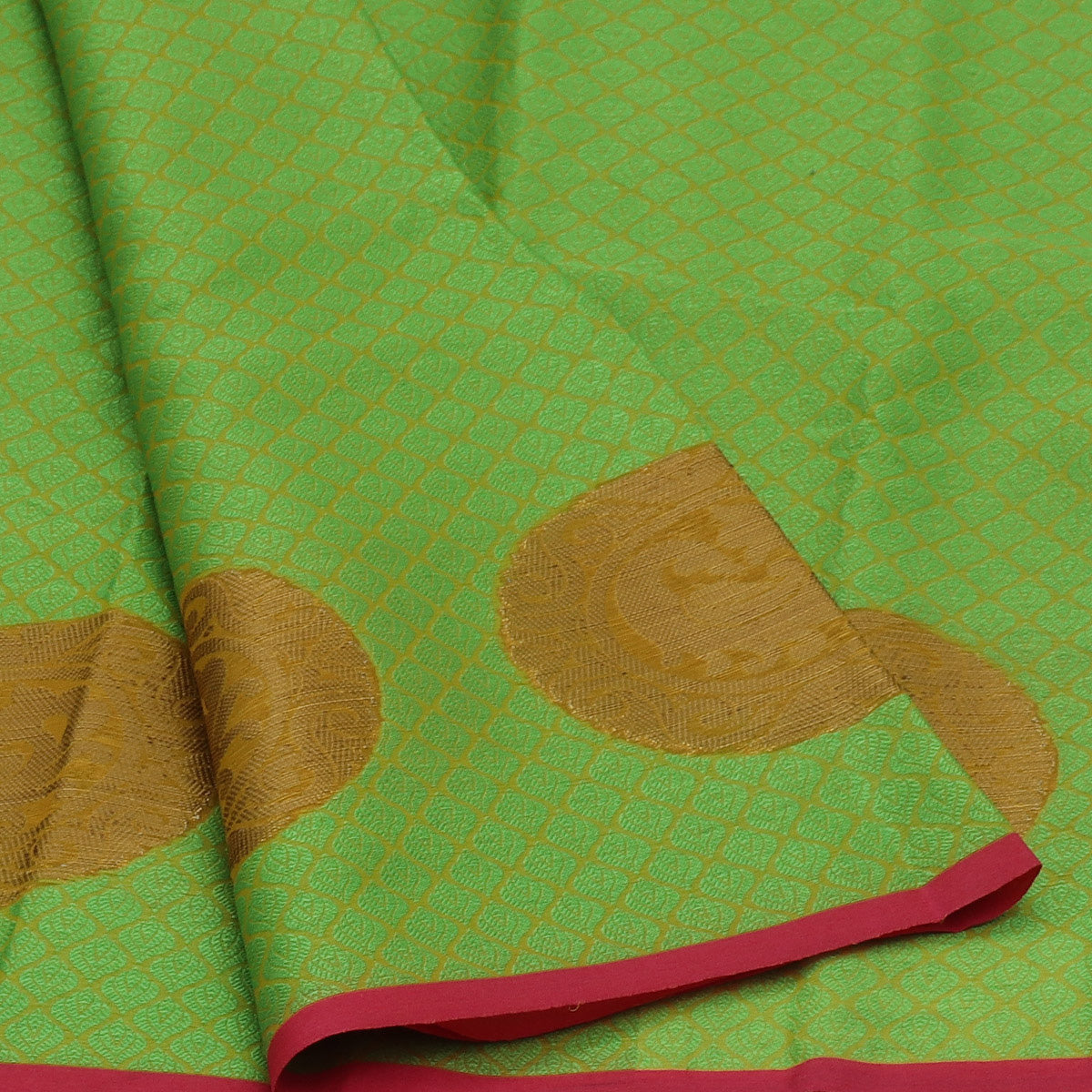 Banarasi Kora Muslin Saree Light Green with Annam Zari Border