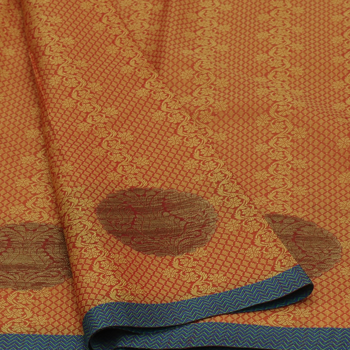 Banarasi Kora Muslin Saree Yellow with Zari Border