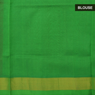 Silk Cotton Saree : Pink and Green with simple zari border partly for Rs.Rs. 4200.00 | by Prashanti Sarees