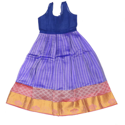Paavadai Sattai - Light Pink and Blue with Floral border (8 Years )