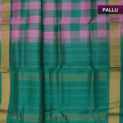 Silk Cotton Saree : Light Pink and Green paalum pazham with bavanji zari border