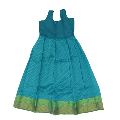 Paavadai Sattai - Light Green and Sky blue with Zari border ( 8 years)