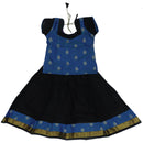 Paavadai Sattai -Sky Blue with butta and Black with Wave zari border (3 years)