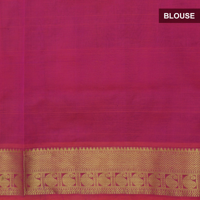 Silk Cotton Saree Paazhum Pazhamum Checks MultiColor with Buttas and Mango Zari border