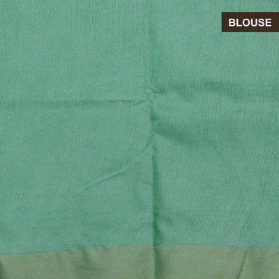 Bhagalpuri Paper Silk Saree Fern Green with Simple border