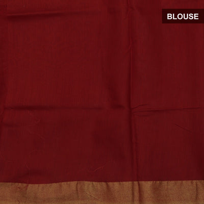 Bhagalpuri Paper Silk Saree Red with Simple border